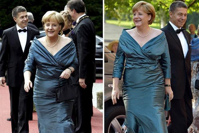 Merkels recycelte Abendrobe