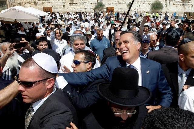 Israel-Besuch: Romney gibt den starken Freund