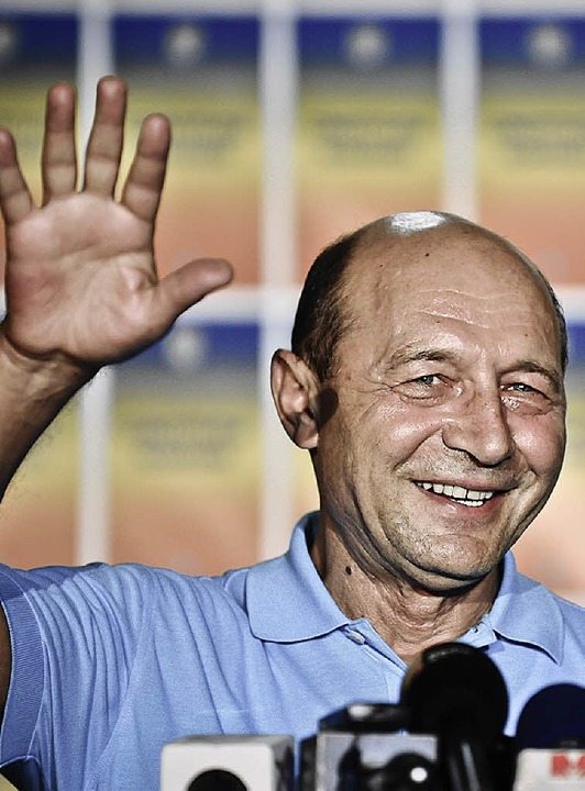 Präsident Traian Basescu  | Foto: dapd