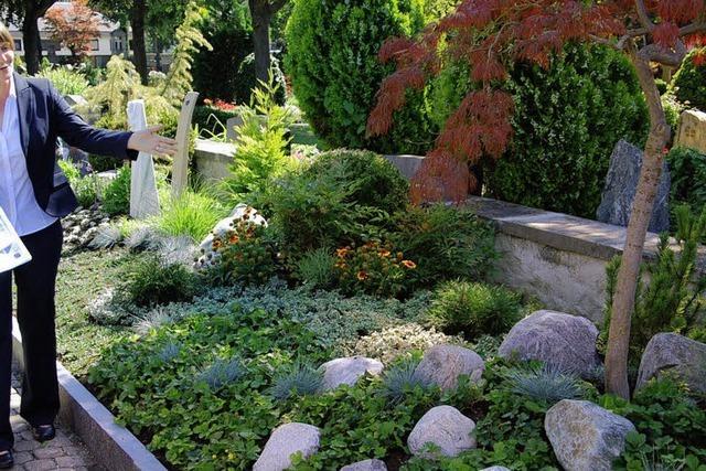 Ein Grabfeld, das nur Gärtner pflegen