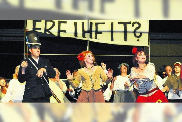 Ein Sieg für die Revolution auf der Theaterbühne im Schlossgarten