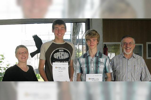 Erfolg für junge Forscher