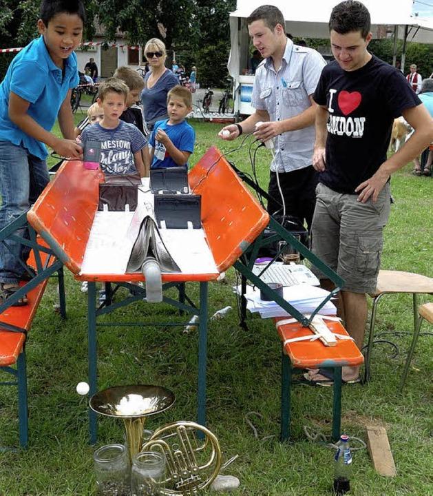 Für die jungen Gäste hatte der Musikve...s Programm des Haxenfests integriert.   | Foto: Jürgen Schweizer