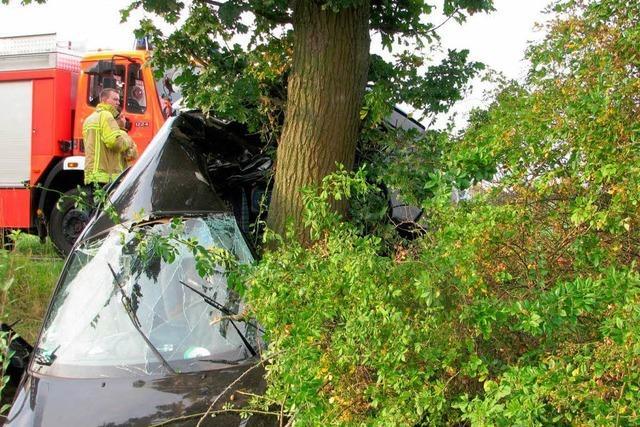 22-Jähriger Pkw-Fahrer kollidiert mit Baum und wird schwer verletzt