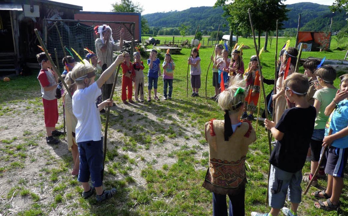 Wildwest in Enkenstein: Häuptling Klau...of einen Nachmittag lang großen Spaß.   | Foto: Privat