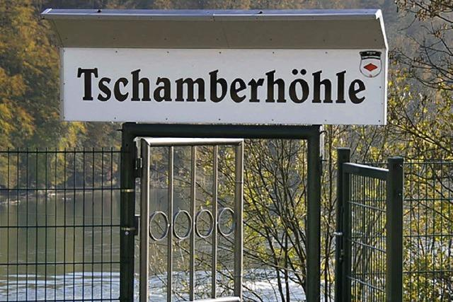 Tschamberhöhle nur vom Rhein her zugänglich