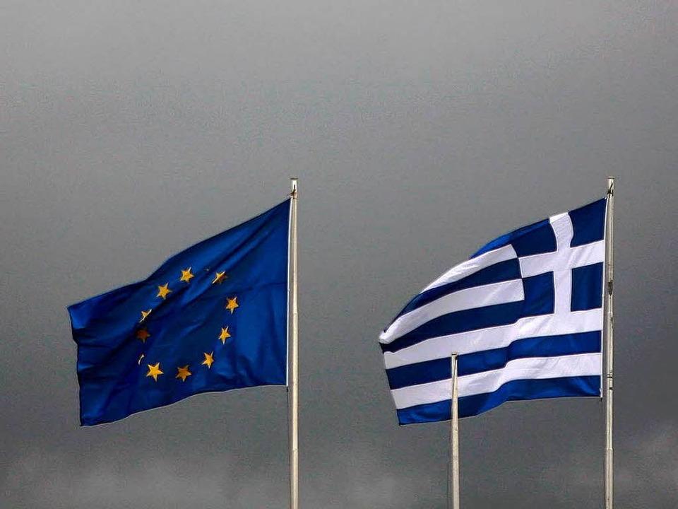 Schwieriges Verhältnis: die EU und Griechenland  | Foto: dpa