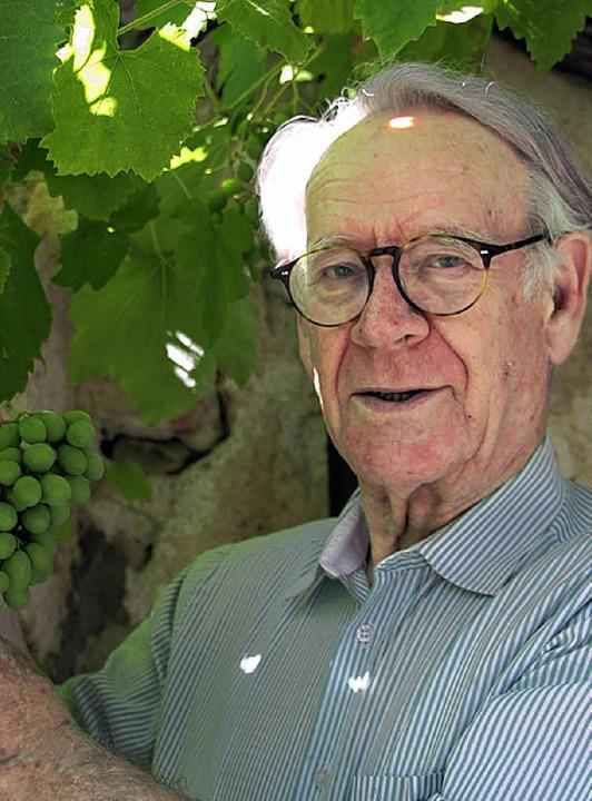 Gesunde Reben sind für  Gerd Köpfer aus Grunern das A und O der Weinwirtschaft.   | Foto: SAbine Model
