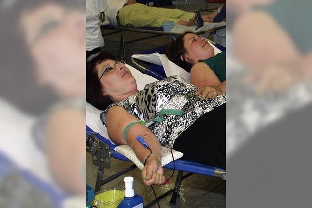 Rundumbetreuung für 200 Blutspender