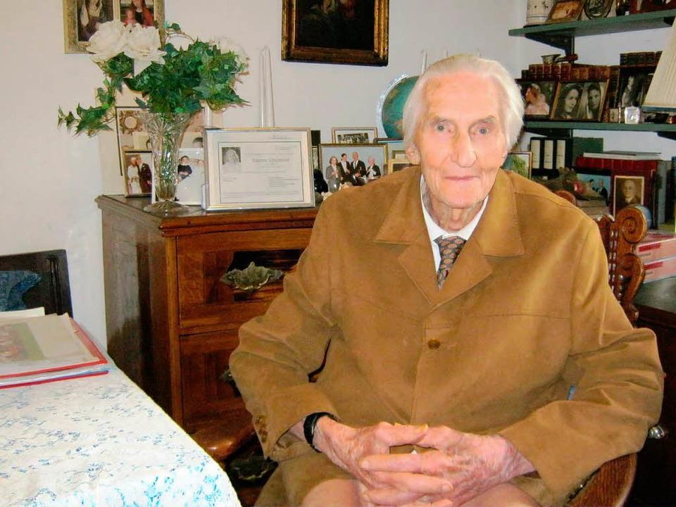 Wenige Wochen nach seinem 90. Geburtst...orst Gütermann am 3. August gestorben.  | Foto: Günter Bank