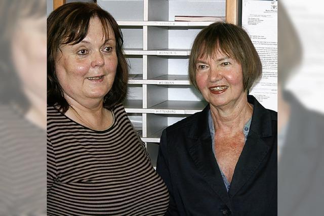 Zwei engagierte Lehrerinnen