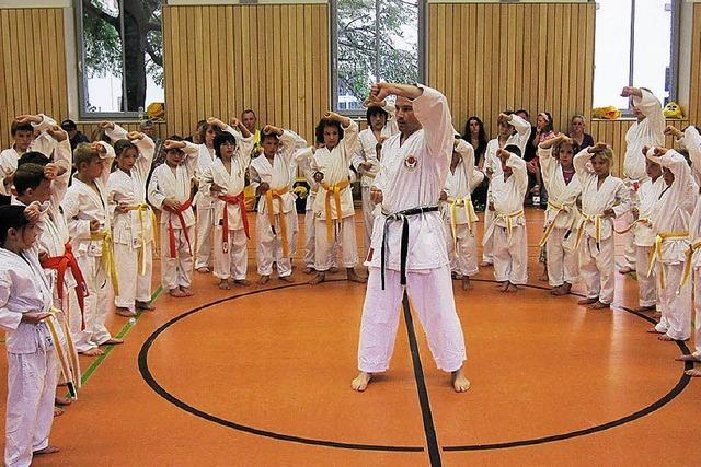 Training mit dem deutschen Meister