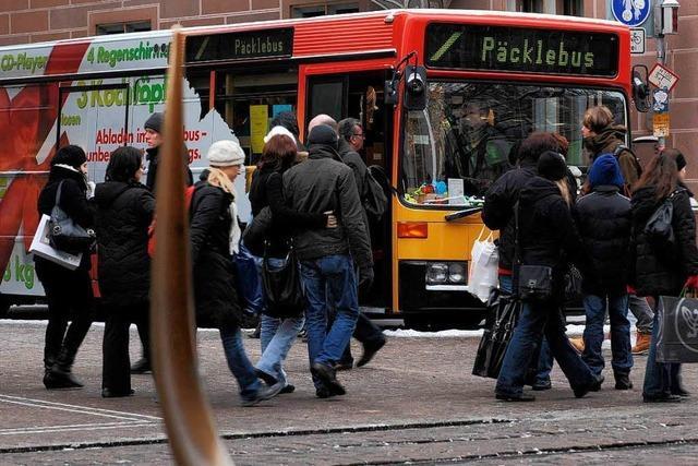 Parkgebühr für Einkäufe: Päcklebus soll künftig kosten