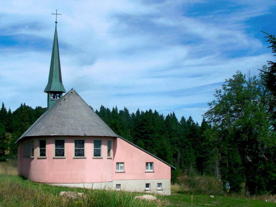 An der Piuskapelle auf dem Kandel find...tt, der im Fernsehen übertragen wird.     Foto: Sylvia Timm