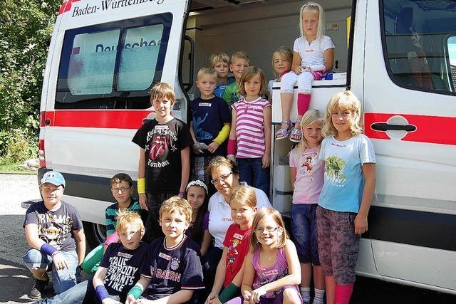 Spaß im Rettungswagen