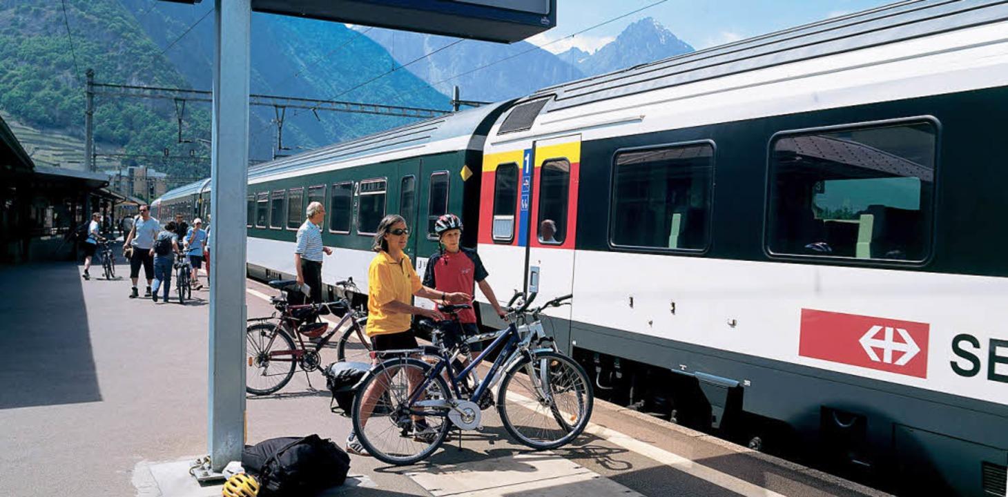Der Veloverlad in der Schweiz ist einfacher als in den meisten Ländern Europas.    Foto: Swiss-Image