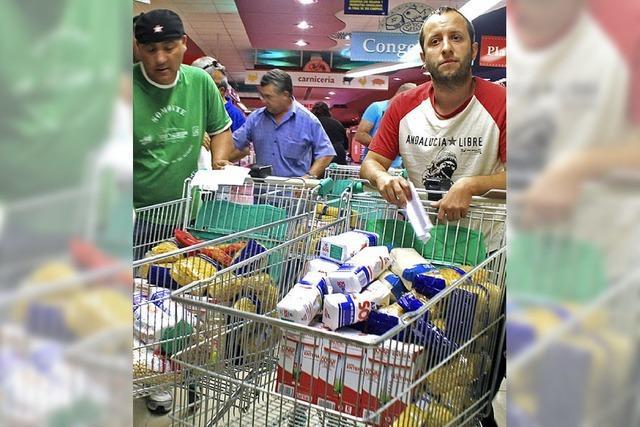 Klassenkampf im Supermarkt