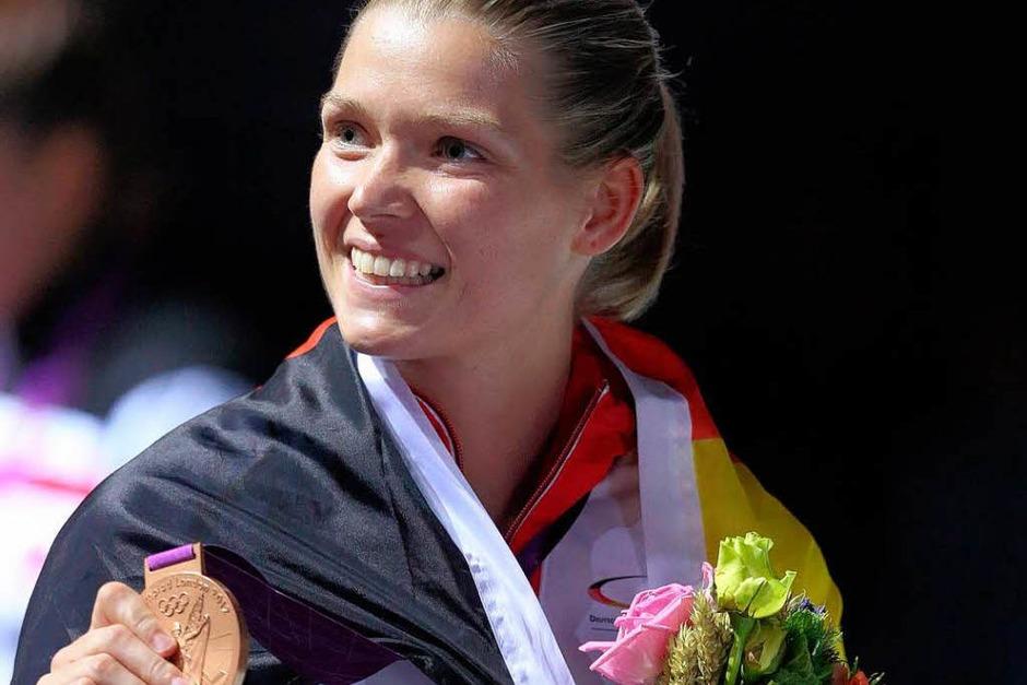 Helena Fromm konnte sich über eine Bronzemedaille im Taekwando  freuen, mit der kaum einer gerechnet hatte. (Foto: dpa)