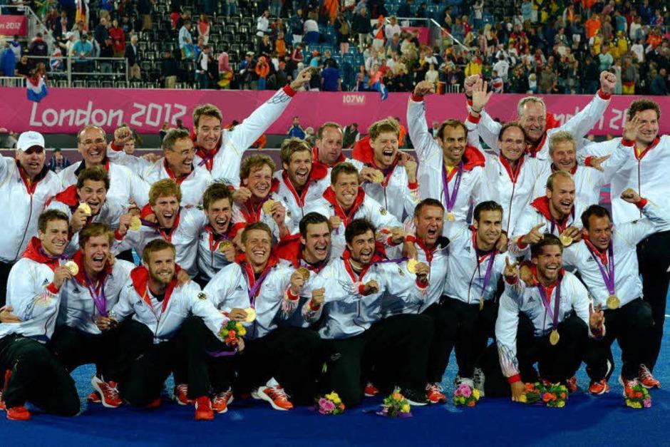 Deutschlands Hockeymannschaft wiederholte das Gold von Peking 2008. (Foto: dapd)