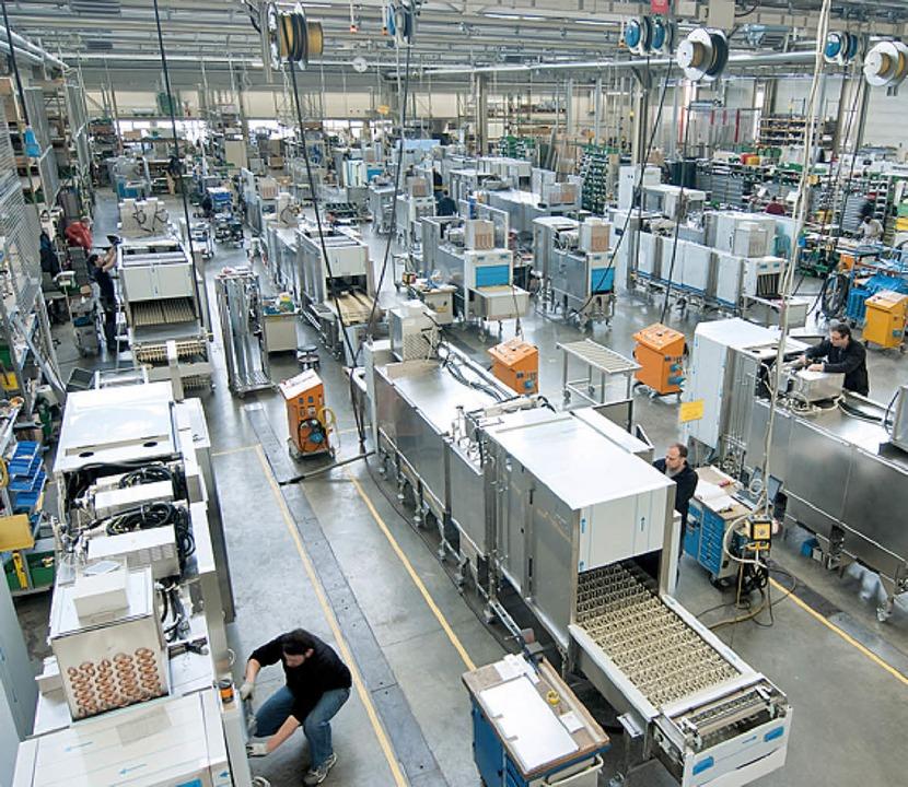Blick in die Meiko-Produktionshalle  | Foto: Meiko Werkfoto