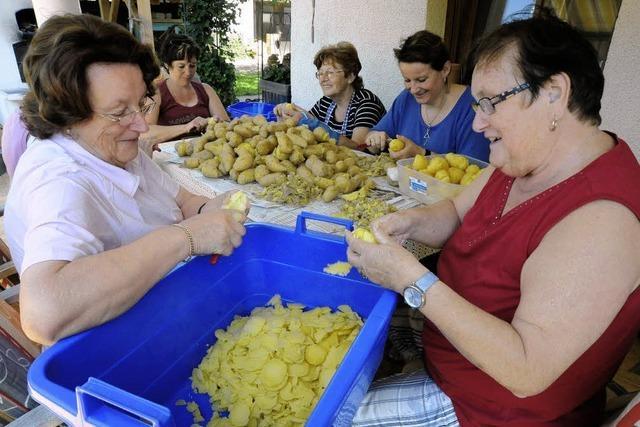 Rettichgirlanden und Kartoffelschnitze