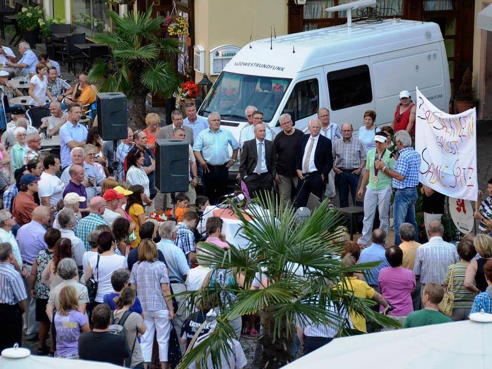 Sabine Spitz dankte ihren treuen Fans und Wegbegleitern.  | Foto: Jens Klein