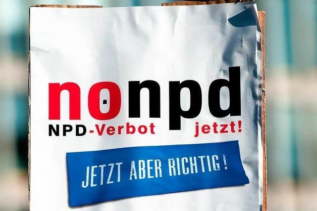 Seehofers Plan für NPD-Verbot findet Anklang