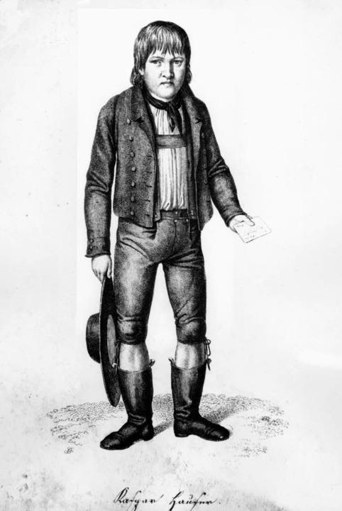 Rätselhafte Figur der Geschichte: Kaspar Hauser.    Foto: dpa