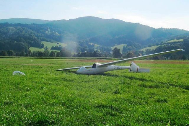 Wie kam es zur Bruchlandung eines Segelfliegers in Kirchzarten?