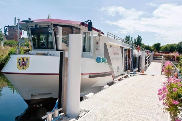 Neues Fahrgastschiff fährt von Breisach bis nach Colmar