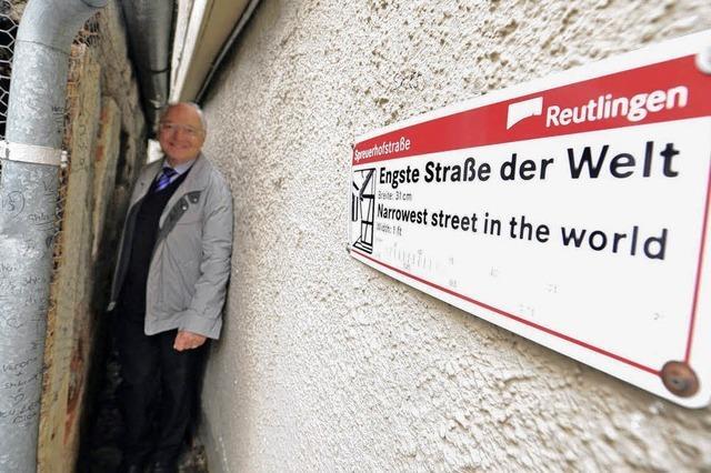 Reutlingens engste Straße der Welt kommt gut an
