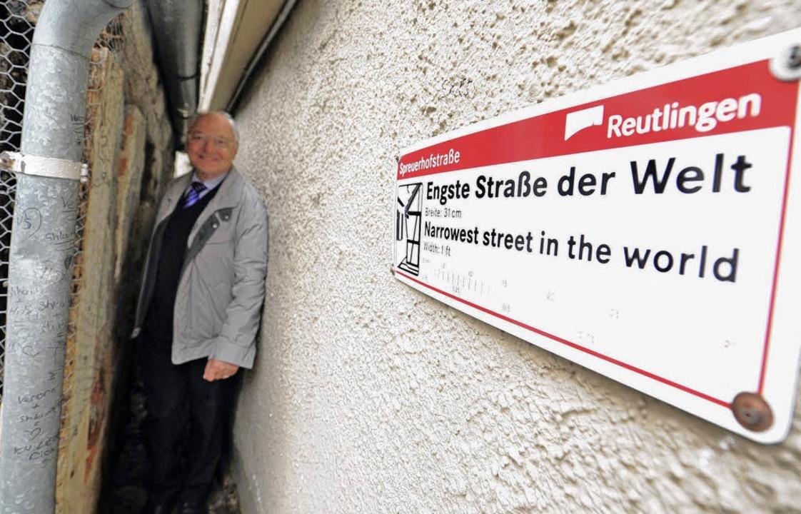 Engste Straße der Welt  | Foto: usage Germany only, Verwendung nur in Deutschland