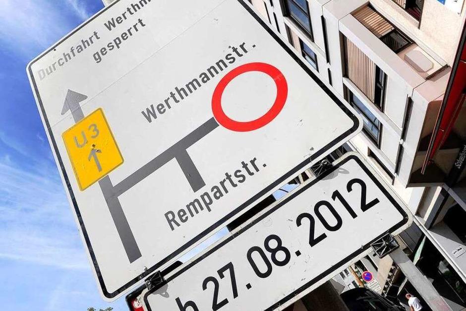 Jetzt gilt's: Der Rotteckring ist  gesperrt – für Autofahrer für immer. (Foto: Ingo Schneider)