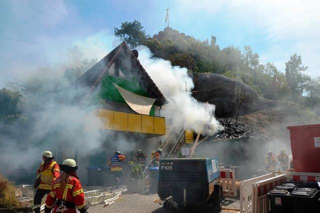 Brand an der Felsabsturzstelle am Eckartsberg rasch gelöscht
