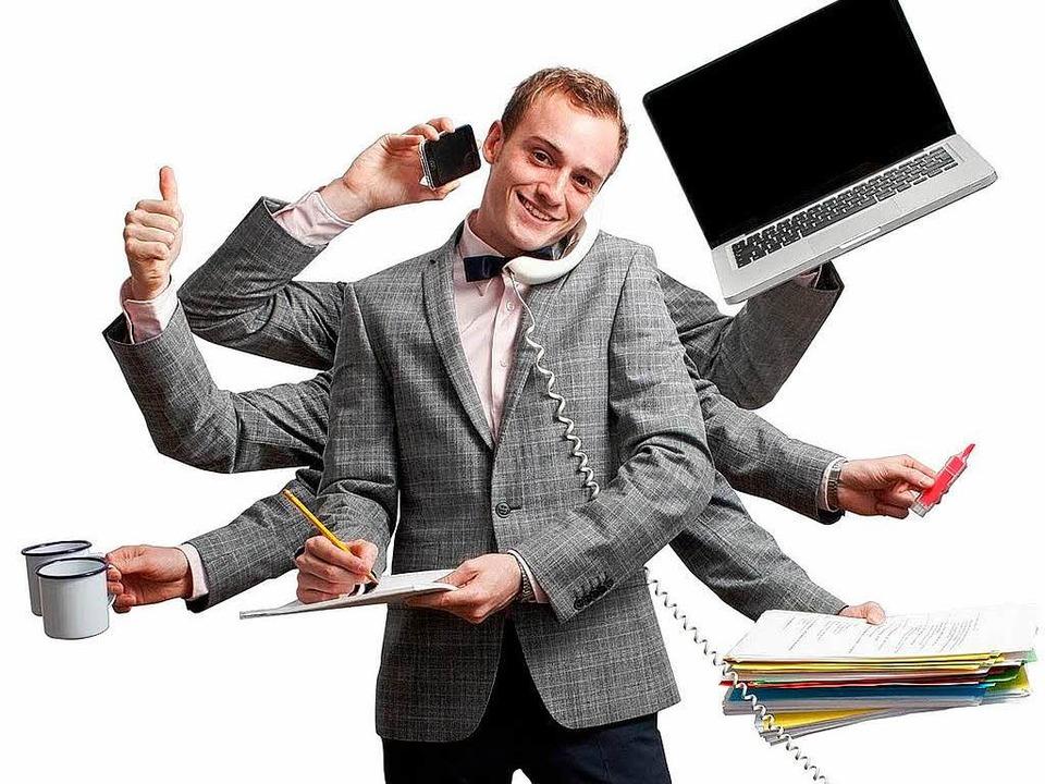 Die Arbeitsbelastung wächst – un...rank werden, sagt eine Studie der AOK.  | Foto: fotolia.com/Lasse Kristensen