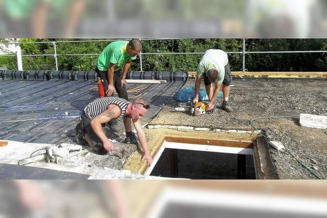 Handwerker sorgen für neuen Glanz