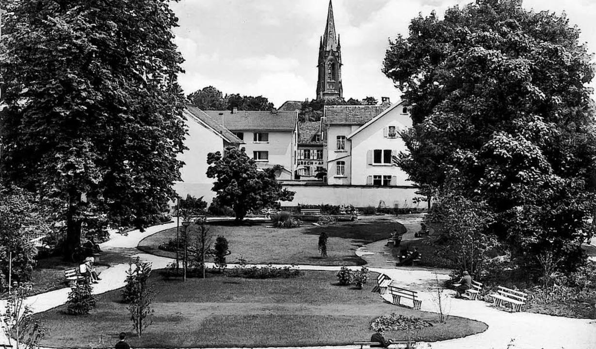 Ein Bild vom Anna-Kym-Garten anno 1962. Alles wirkt noch sehr luftig.   | Foto: Stadtarchiv (2)/sabine Ehrentreich