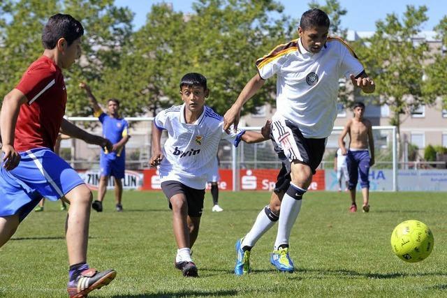 Teamgeist beim Fußball