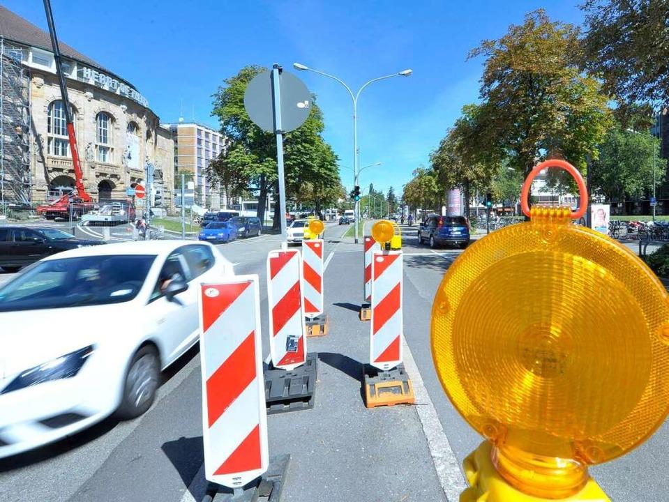 Letzte Tage einer Autostraße: Hier fah...nur noch Straßenbahnen und Fahrräder.   | Foto: Michael Bamberger