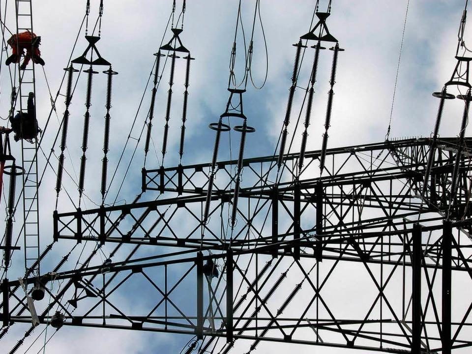 Der Ausbau der Stromnetze ist Teil der Energiewende.  | Foto: MICHAEL KRUG