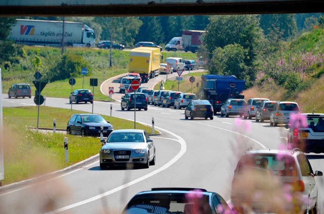 Acht Bürgermeister der Gemeinden von U...e Priorität im Bundesverkehrswegeplan.  | Foto: Thomas Winckelmann