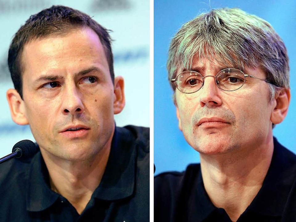 Lothar Heinrich (links) und Andreas Sc...srechtlichen Konsequenzen zu fürchten.  | Foto: dpa