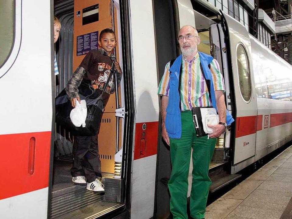 Berlin – Hamburg –  Berlin... Bahn betreutes Reisen ohne Eltern  an  | Foto: bz