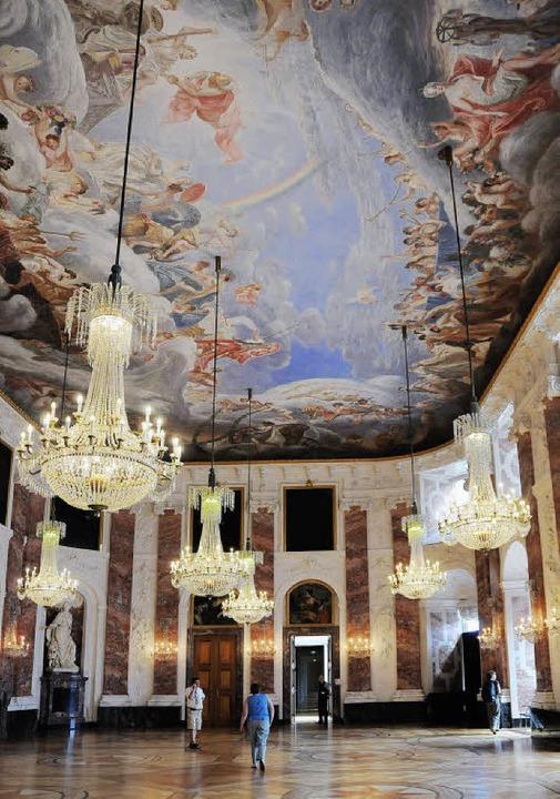 Prunkvoll: der Rittersaal im Mannheimer Schloss   | Foto: Andrea Schiffner