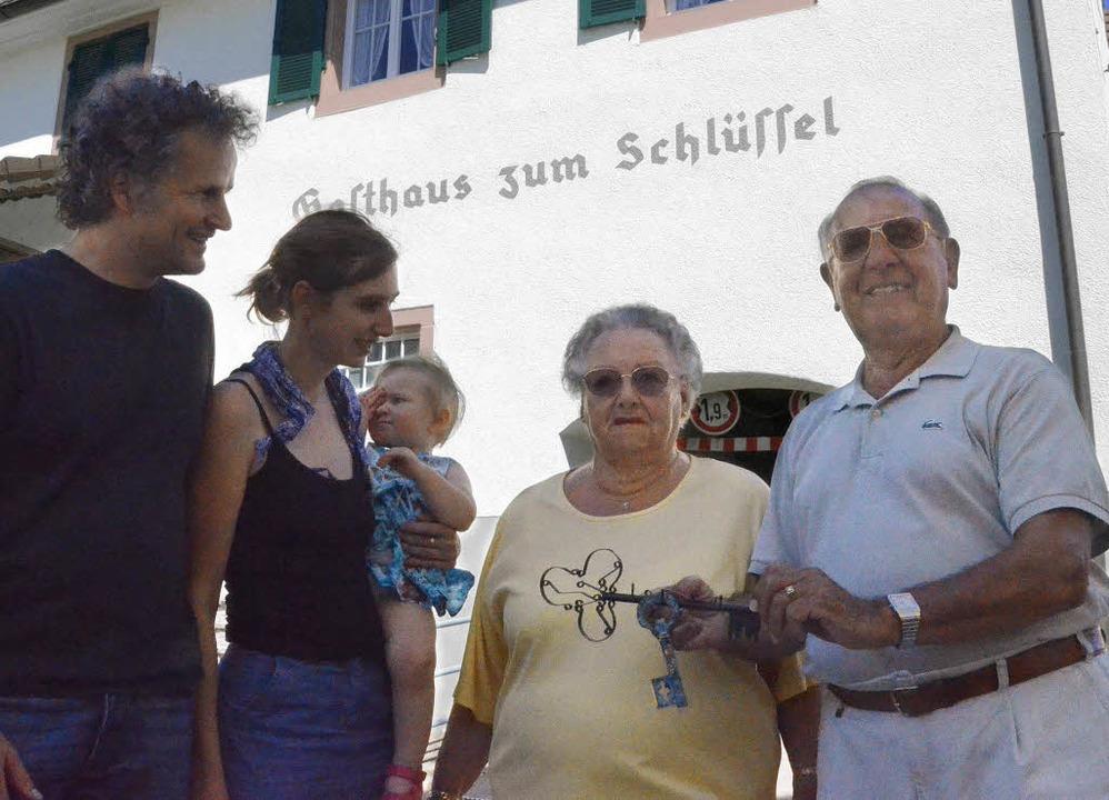 Hilger und Michelle Schmerwitz haben d...kleine Meryl, als Privathaus nutzen.      Foto: Victoria langelott