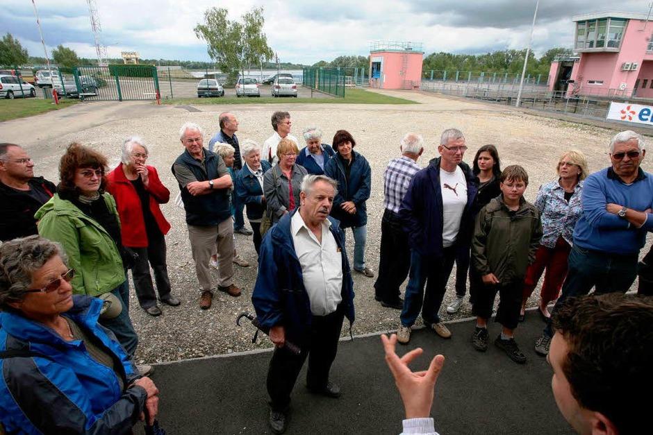 Begrüßung der BZ-Leser durch einen Tourleiter. (Foto: Bastian Henning)