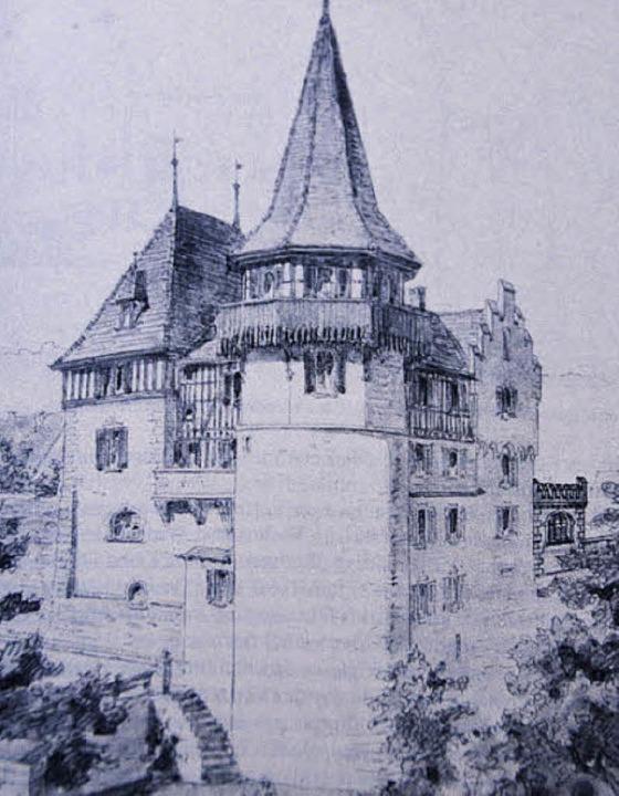 Schloss Brombach Ende des 19. Jahrhund...<BZ-FotoNurRepro>seh</BZ-FotoNurRepro>    Foto: Sabne Ehrentreich (repro)
