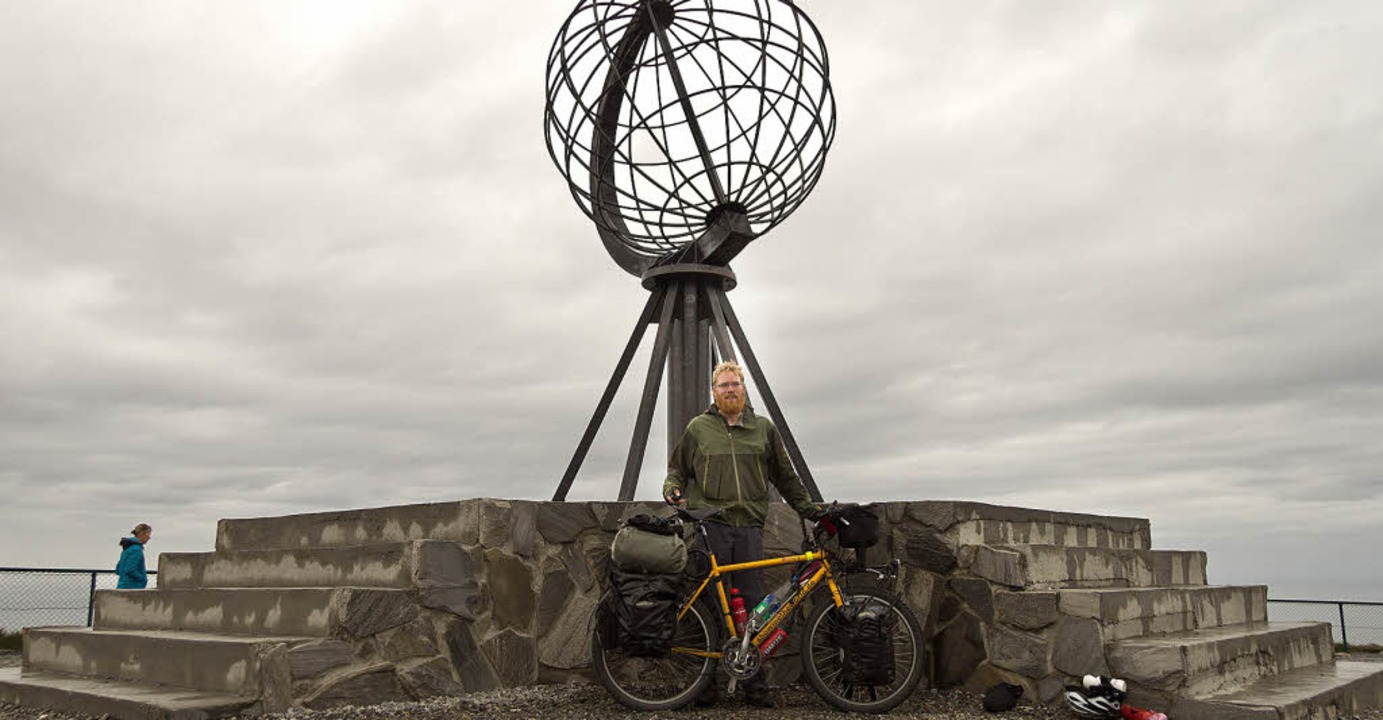 Geschafft: Stefan Böhm hat das Nordkap erreicht.  | Foto: privat