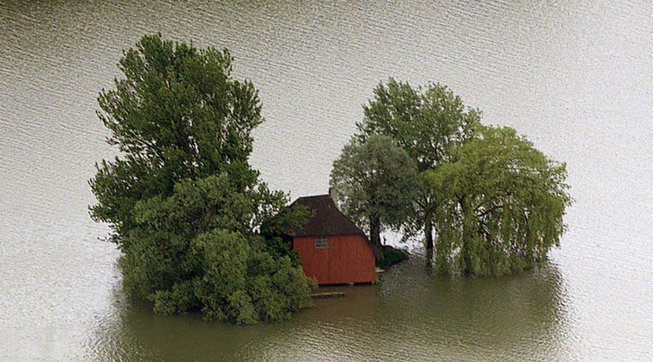 Stets mit allem rechnen: Hochwasser am Oberrhein (Mai 1999)   | Foto: dpa