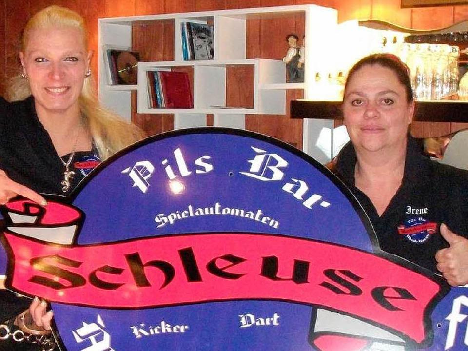 Nicole Ferner (links) und Irene Boeddeker, die Pächterinnnen der Schleuse    Foto: Privat